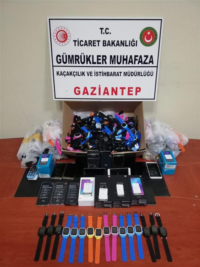 Gaziantep Gümrük Muhafaza Kaçakçılık ve İstihbarat Müdürlüğü Yakalama