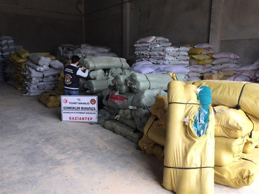 Gaziantep'te 4 Milyon TL Değerinde Ticari Eşya Kaçakçılığı Ortaya Çıkarıldı.