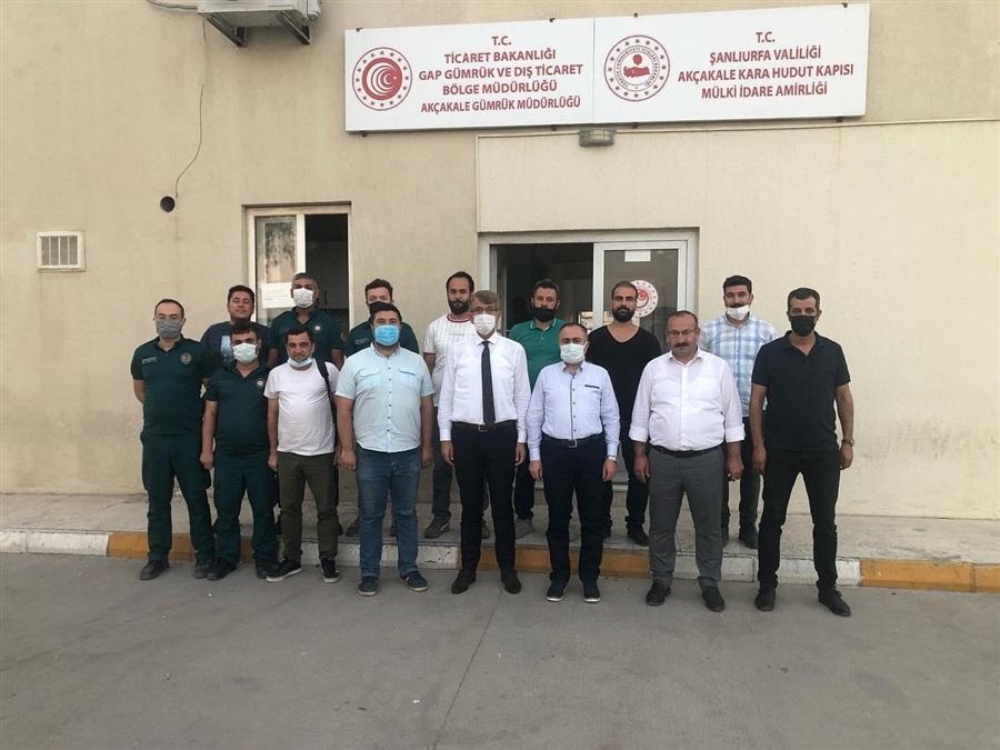 Bölge Müdürümüz Sn. Mehmet Tuncay BAYRAKTAR, Akçakale Kaymakamı ve Akçakale Gümrük Kapısı Mülki İdare Amiri Sayın Oltan BAYRAKTAR'ı Akçakale gümrük kapısında bulunan mülki idare makamında ziyaret etti.